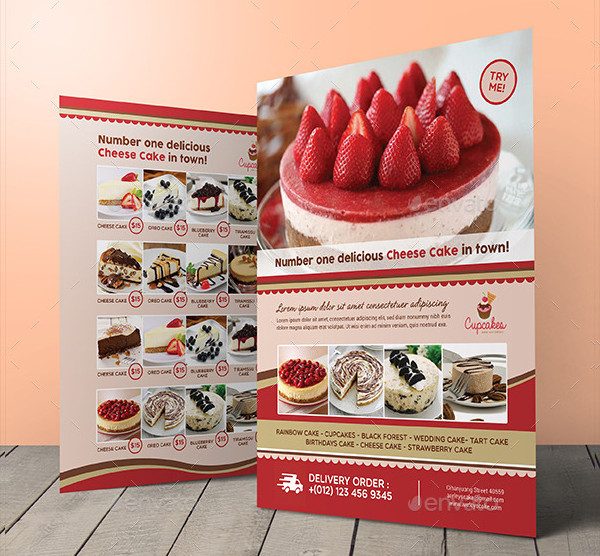 Cheese Cake PSD Flyer Design