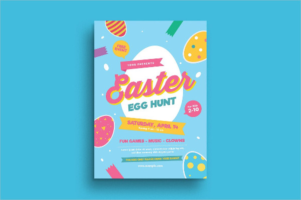 Colorful Egg Hunt Festival Flyer Template
