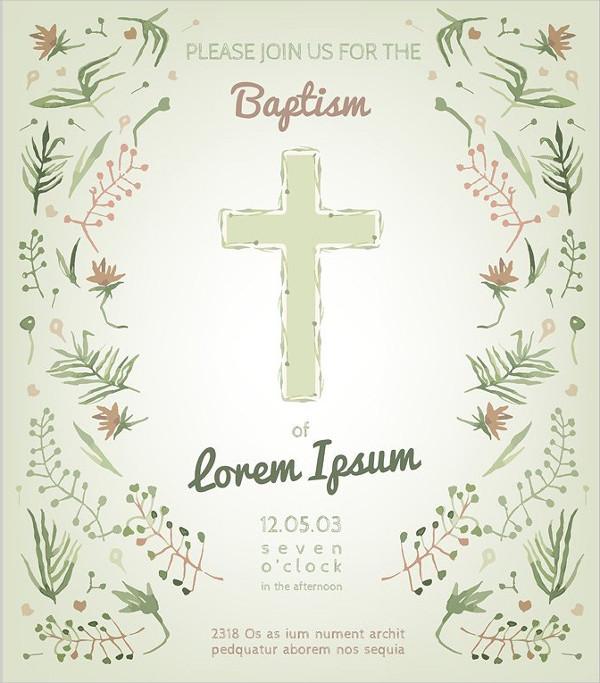 Unique Baptism Invitation Card