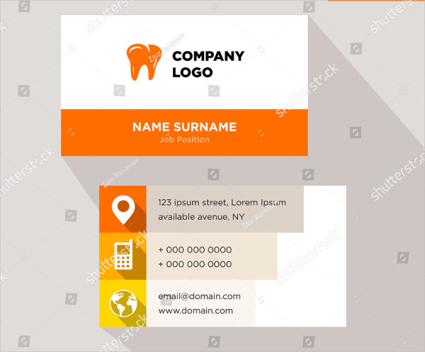 Dentist Business Card Vector Design