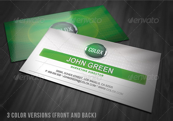 Fancy Style Business Card with Badge Design