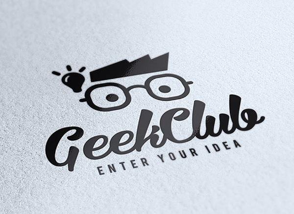 Geek Club Logo Design Vector