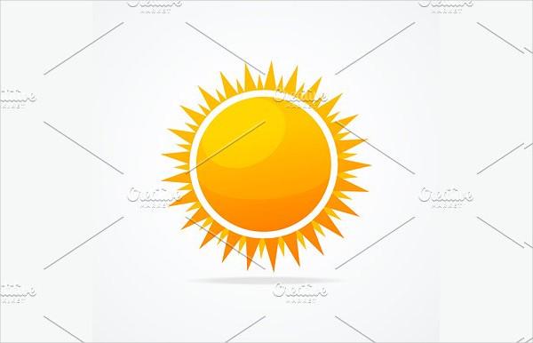 Glossy Sun Icon Set