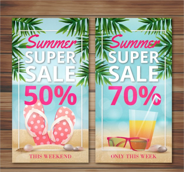 Super Sale Banners of Summer Free