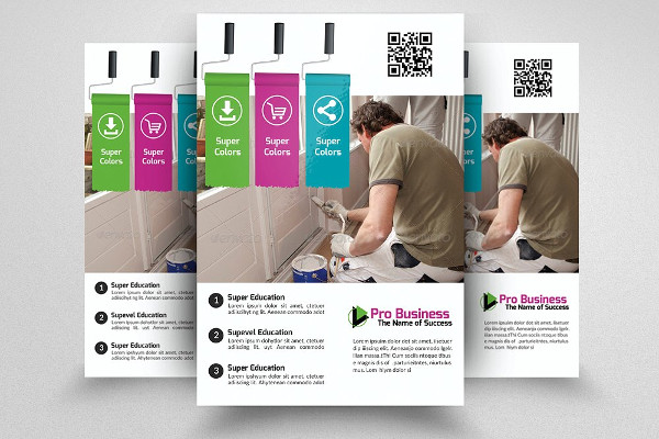 Attractive House Painter Service Flyer