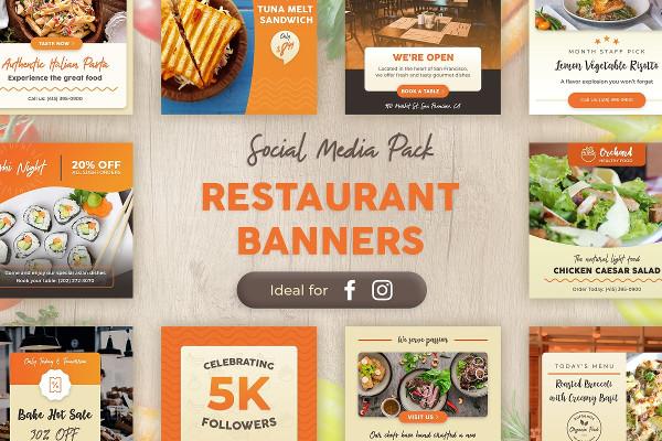 Instagram Restaurant Banner Designs