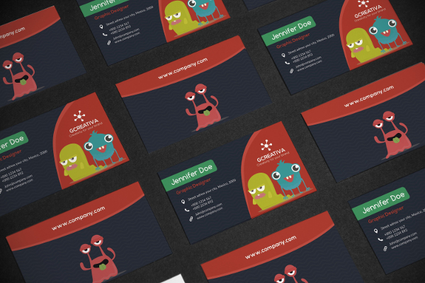 Monster Kids Business Card Template