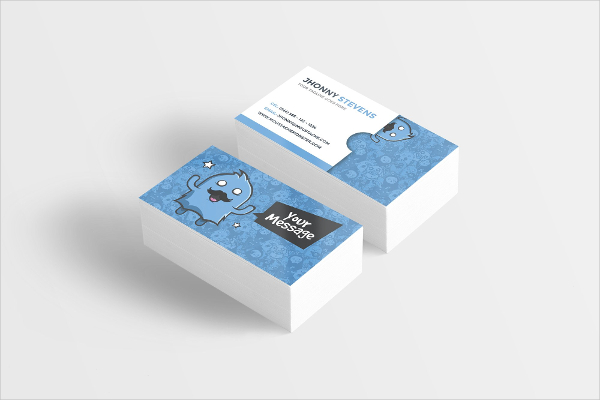 Moustache Monster Business Card for Kids