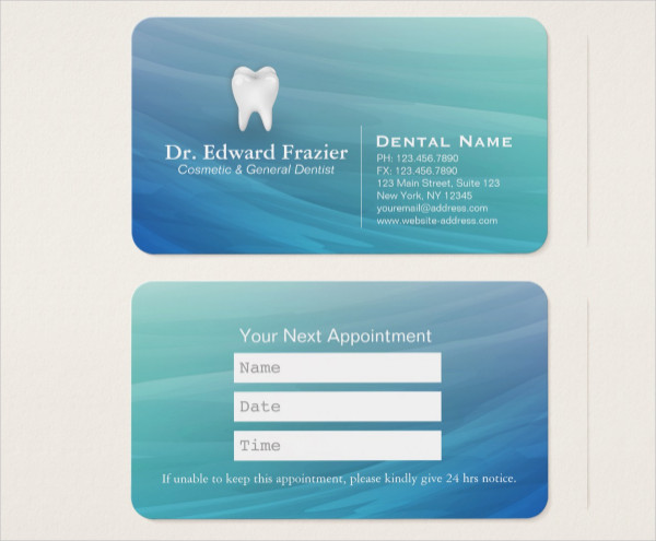 Professional Dental Care Business Card Template