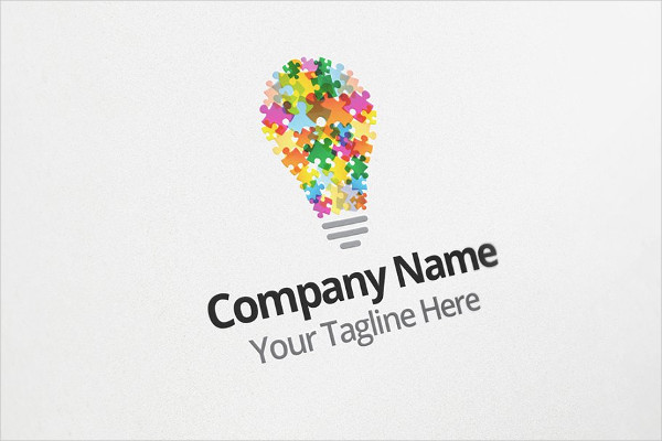 Puzzle Idea Logo Design Template