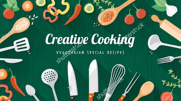 Vegetarian Food Recipes Banner