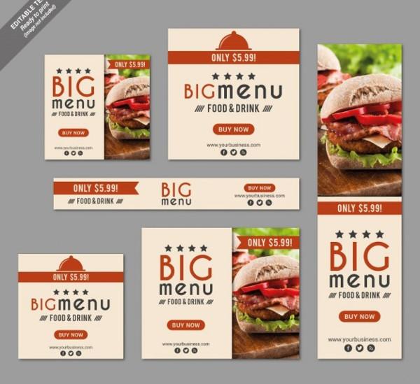 Fast Food Restaurant Banner Set Free Download