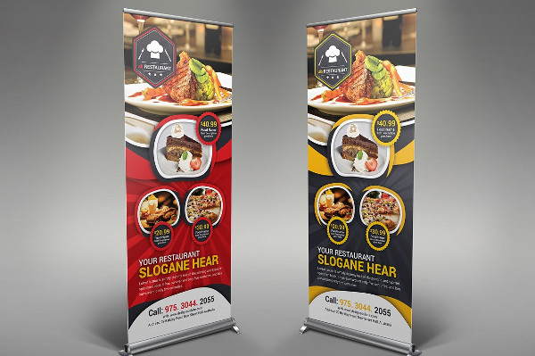 Unique Restaurant Roll-up Banner Templates