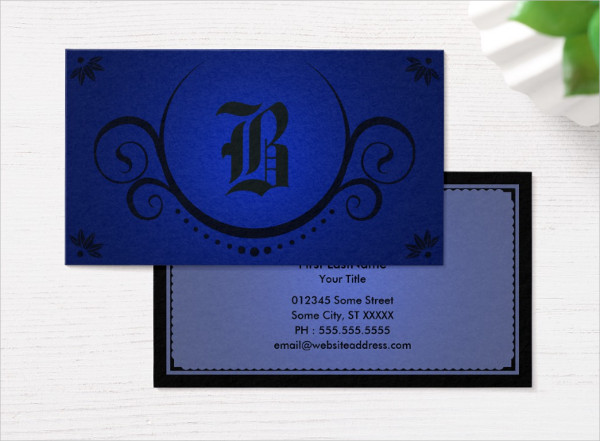 Royal Blue Business Card Template
