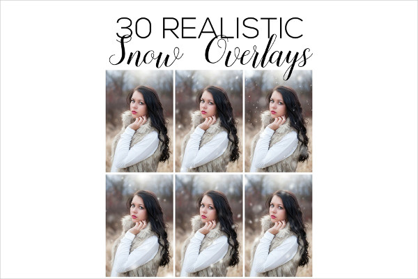 Snow Overlays Photoshop Action