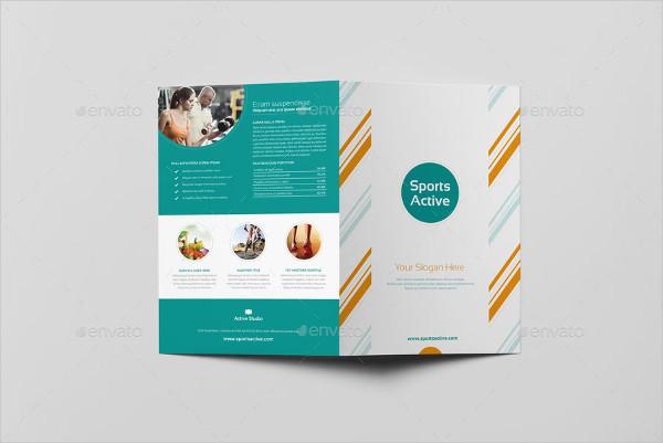 Sports Active Bi-Fold Brochure Templates