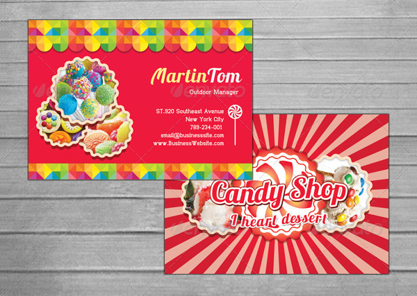 Sweet Candy Love Business Card Template