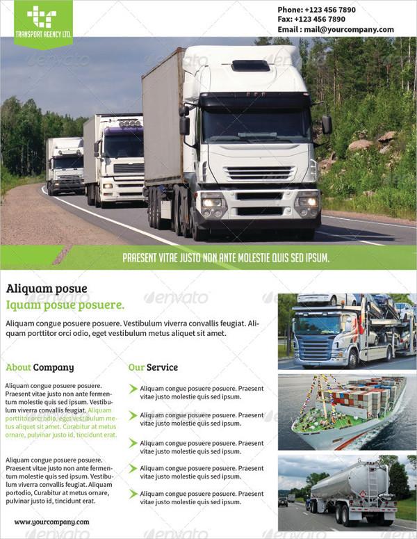 Transport Agency Advertising Flyer Design