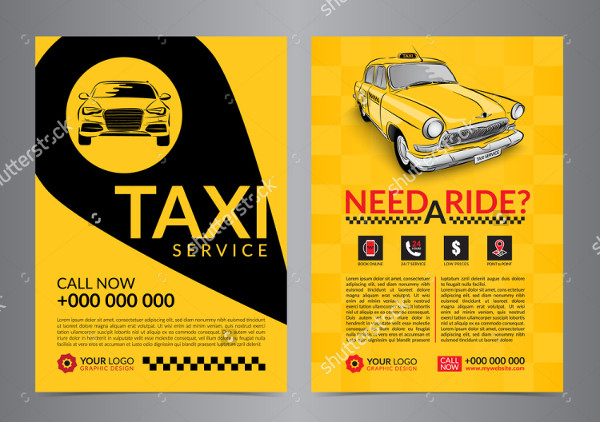 Taxi Service Flyer Template