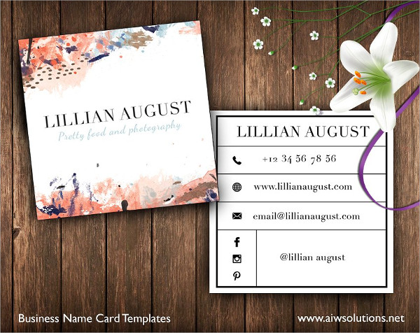 Abstract Square Art Business Card