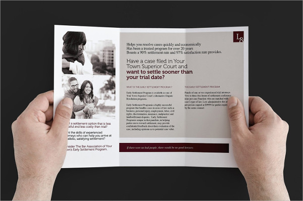 Best Law Organisation Trifold Brochure Template