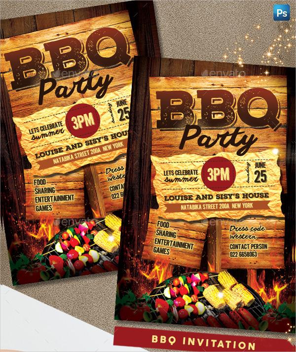 Latest BBQ Event Invitation Template
