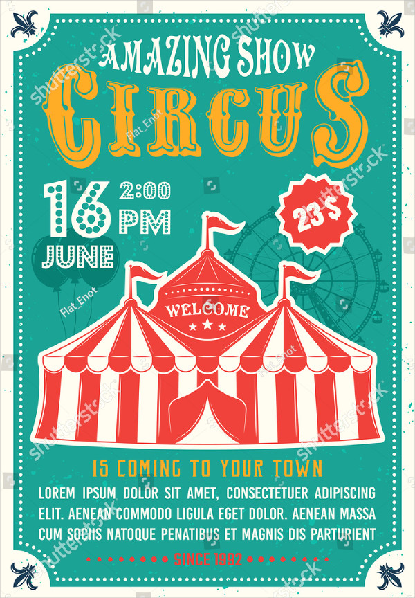 Colorful Circus Poster Template