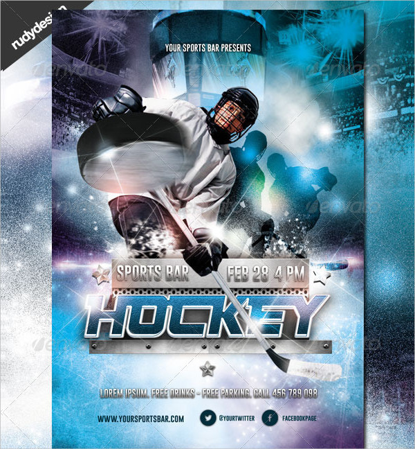 Clean Hockey Recruiting Flyer Design
