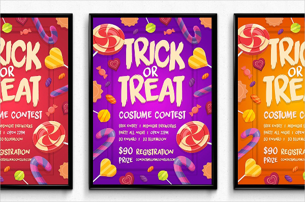Candy Halloween Poster Design
