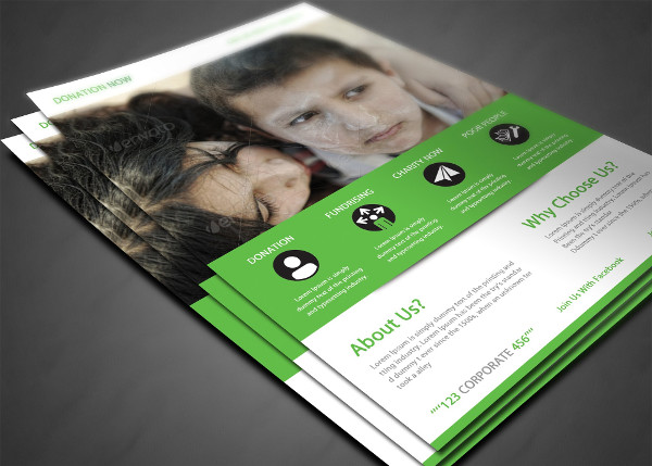Printable Charity Donation Flyer