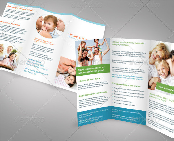 Clean Professional Tri-Fold Brochure Template