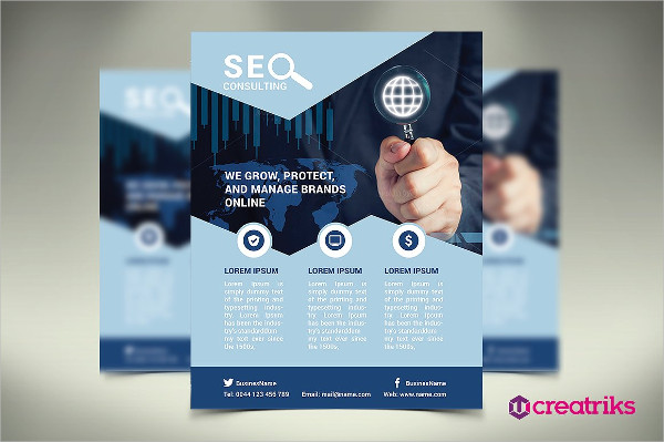 Clean SEO Flyer Template