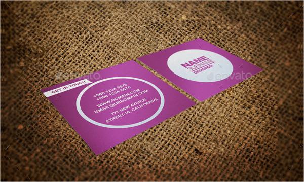 Square Colorful Business Card Design