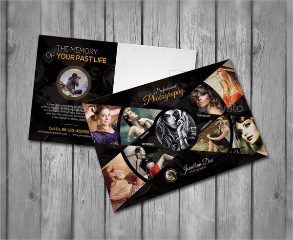 Fashion Photography Postcard Template