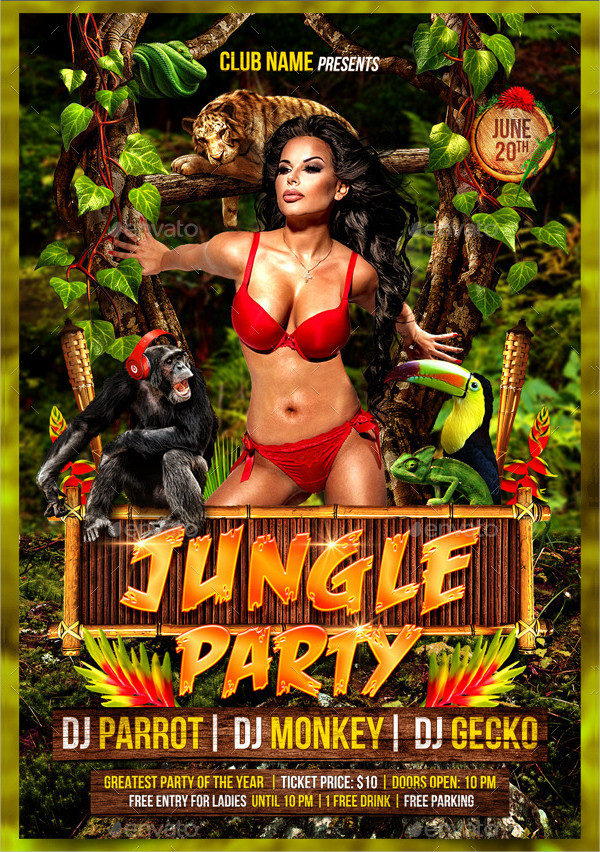 Exotic Jungle Event Flyer Template
