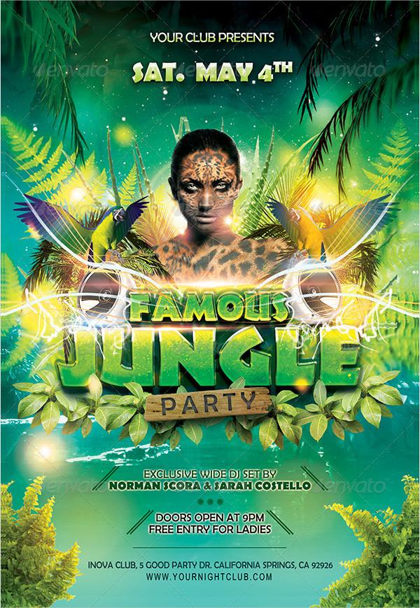 Famous Jungle Party Flyer Templates