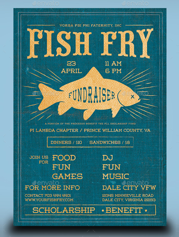 Fish Fry Event Flyer Design