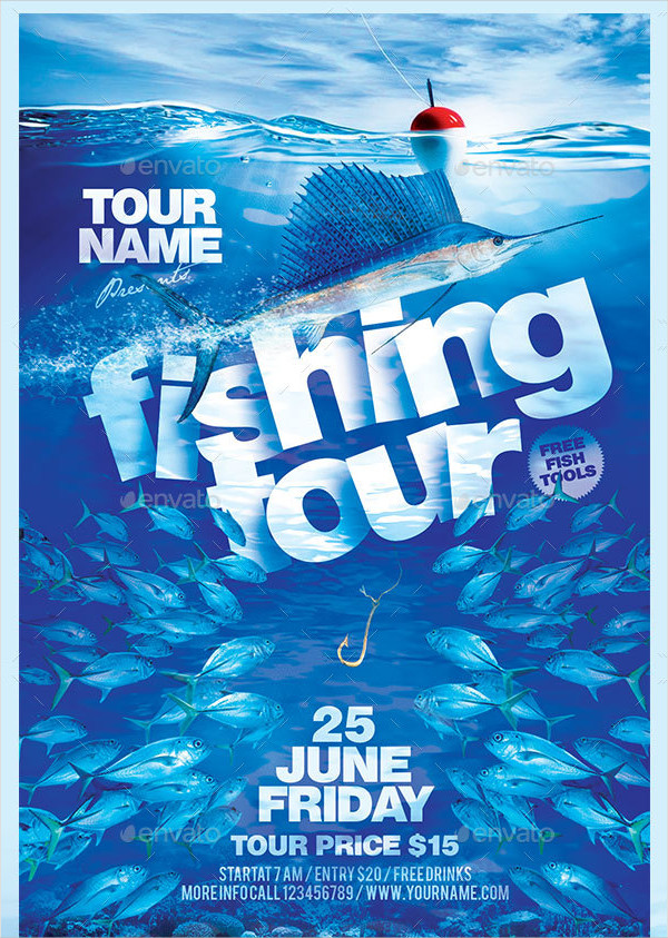 Easy to Edit Fishing Tour Flyer Template