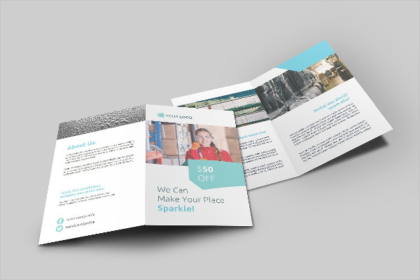 Unique Cleaning Service Brochure Template