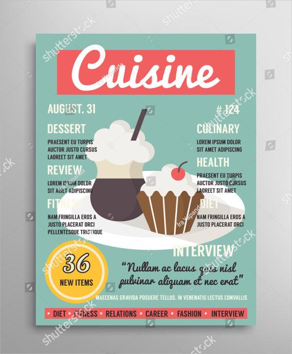 Food Blogging Magazine Design
