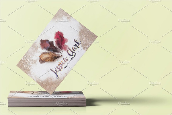 Fully Customizable Watercolor Warm Business Card