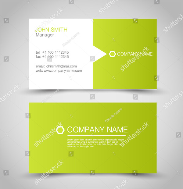 Green & White Global Business Card Template