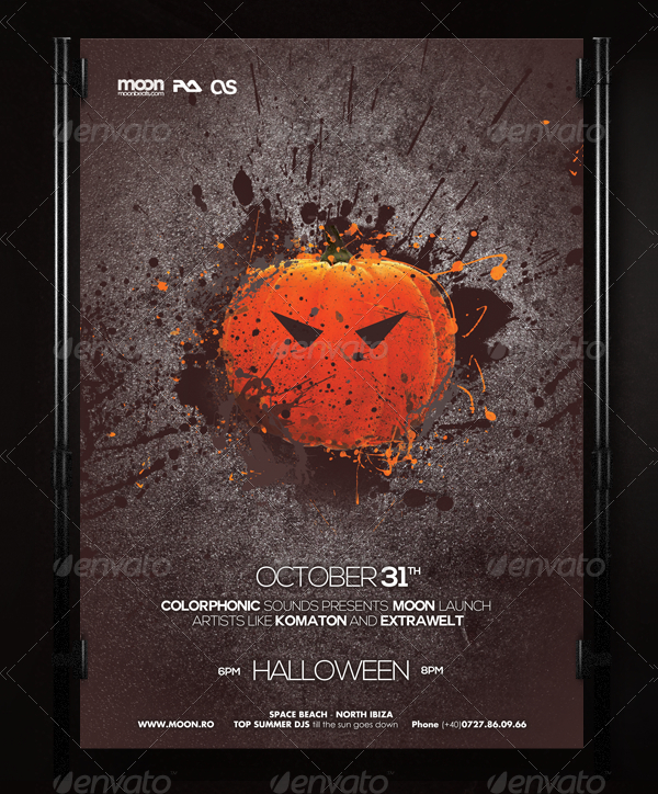 Halloween Club Poster Template