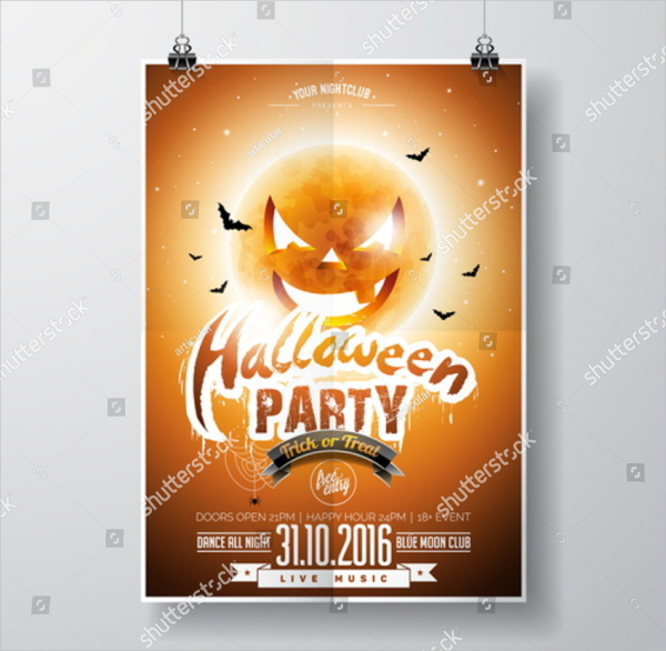 Halloween Party Vector Design Flyer