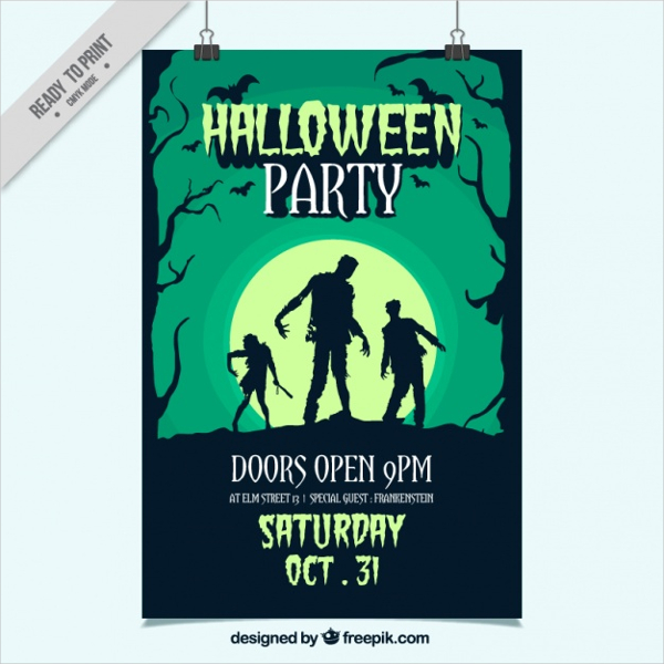 Hand Drawn Party Poster for Halloween