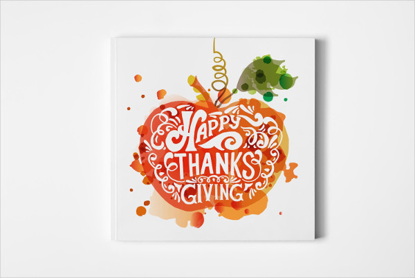 Hand Sketched Thanksgiving Card Template