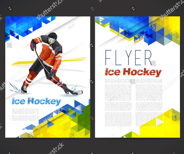 Hockey Flyers with Geometric Background