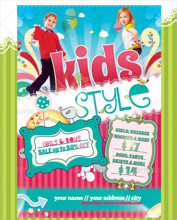 PSD Child Style Flyer Design