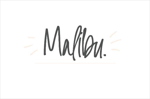 Malibu Handwritten Font
