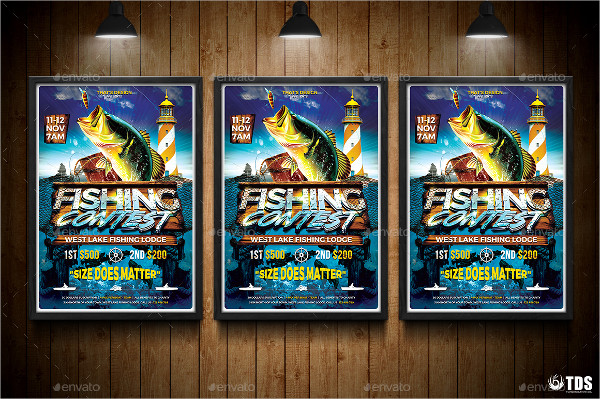 Best Fishing Contest Flyer Templates